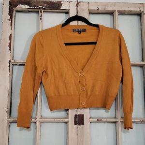 MAK cropped golden sweater xl